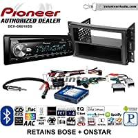 Volunteer Audio Pioneer DEH-S6010BS Double Din Radio Install Kit with Bluetooth, Sirius XM, CD Player Fits 2005-2013 Chevrolet Corvette, 2006-2009 Hummer H3 (OE amplified systems and Onstar)