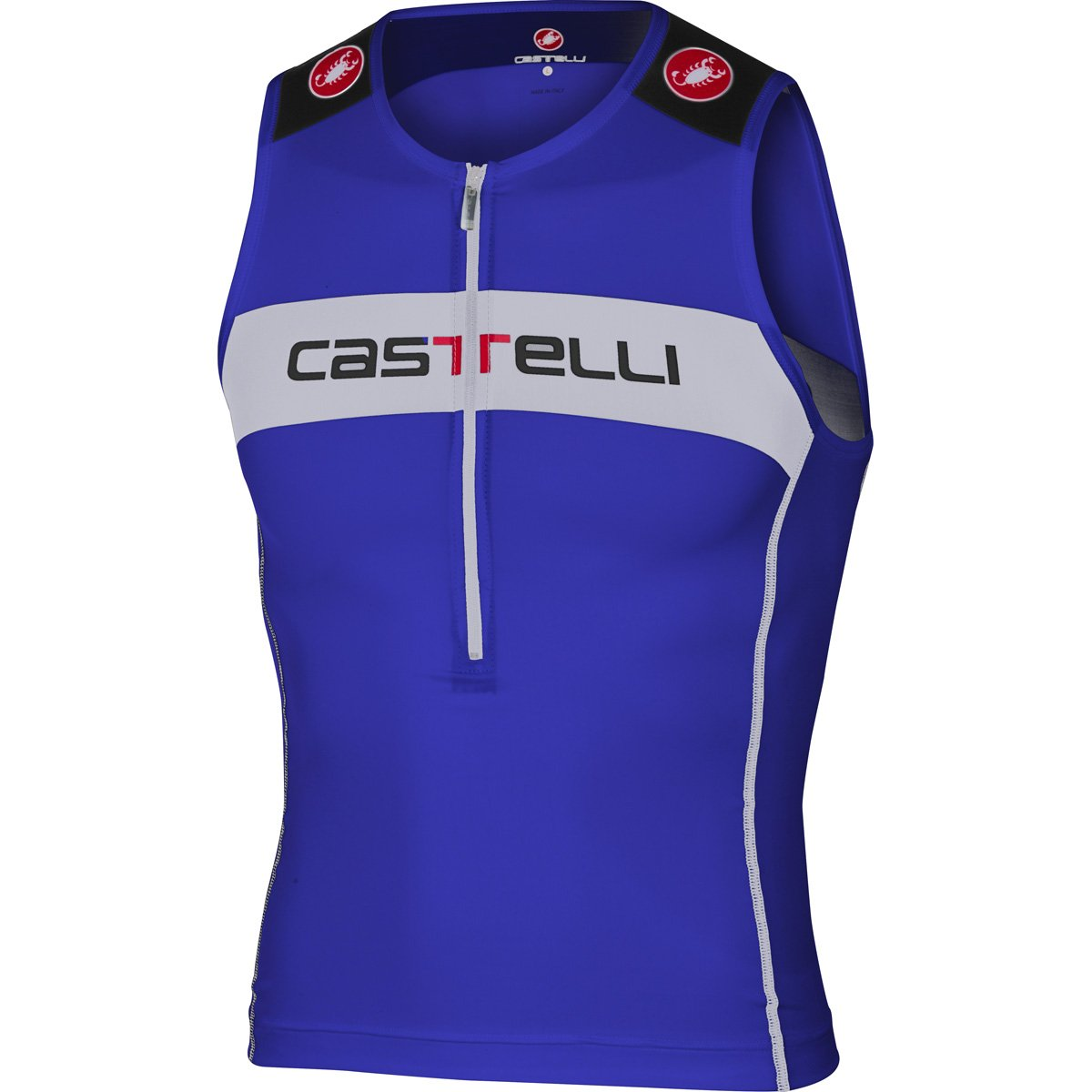 Castelli Core Tri Top – Men 's Small Surf Blue/White B06X91KQFB