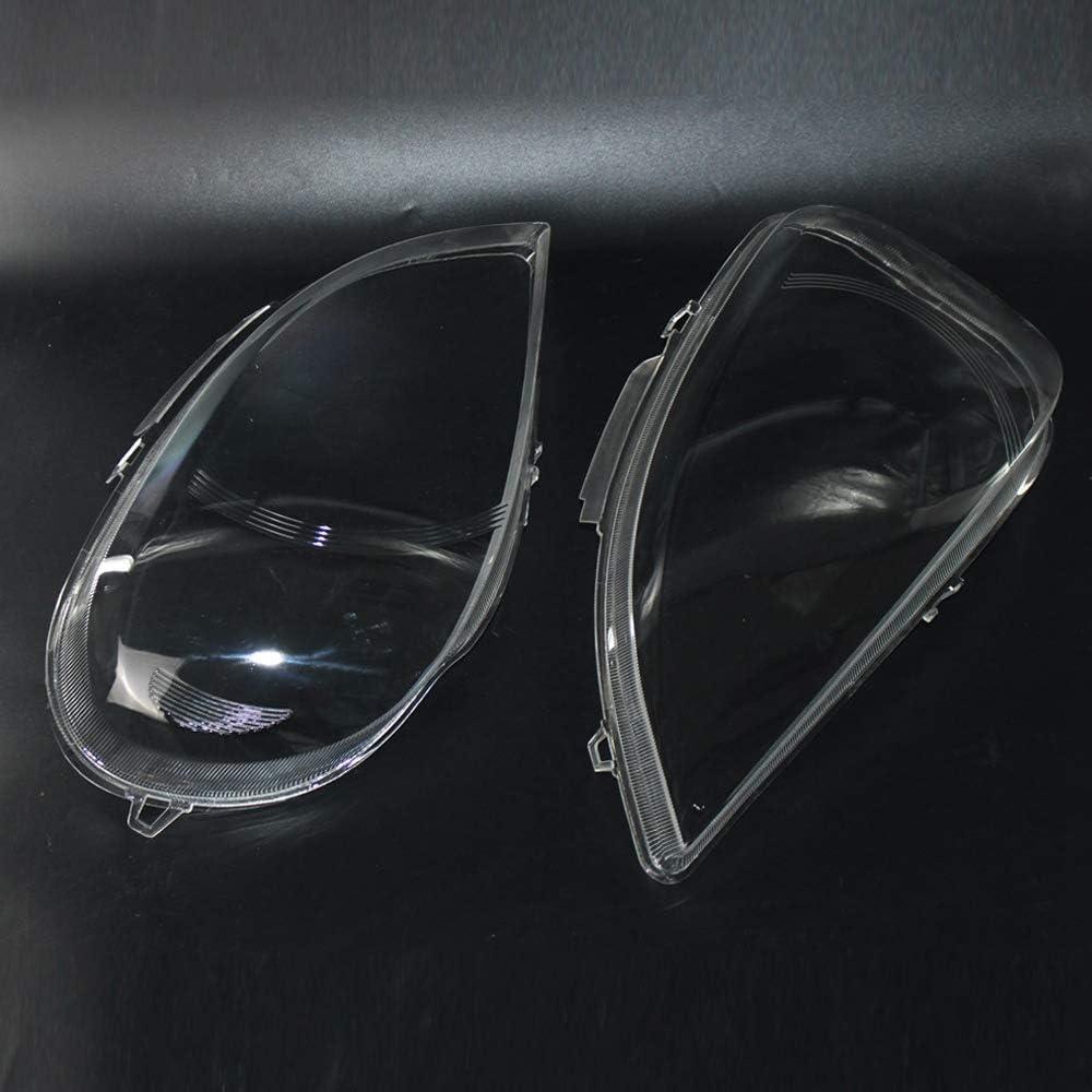 Izquierda Derecha Noblik 1 Par de Faros Faros Transparentes Cubierta Pantalla Pantalla Carcasa del Faro para Mercedes W163 Ml Clase 2002 2003 2004 2005 1638204961 1638205061