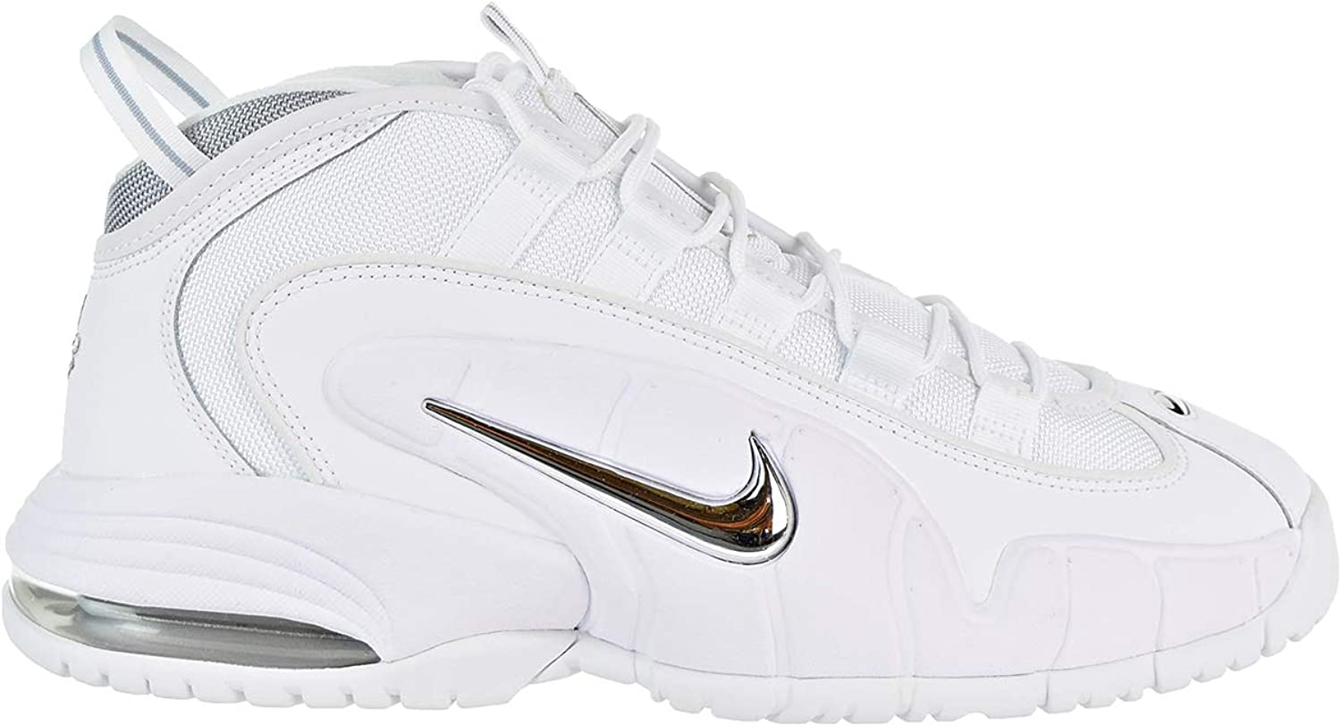 Nike Air Max Penny Men's Shoes WhiteMetallic Silver 685153 100