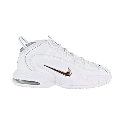 61907bf9c32e Nike Air Max Penny Men s Shoes White Metallic Silver 685153-100 (8 D