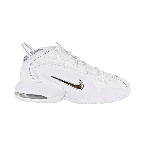 Nike Men's Air Max Penny Gymnastics Shoes, WhiteMetallic