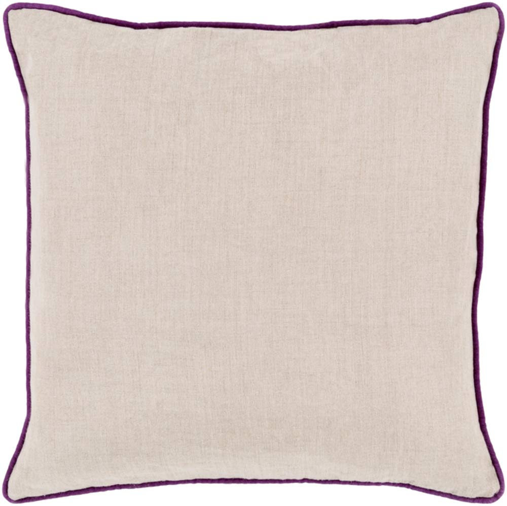 Solid & Border Pillow Cover Only Square 18'' x 18'' WL-067545-S