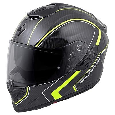 Scorpion ST1400 Carbon Helmet - Antrim (Small) (HI-VIS): Automotive