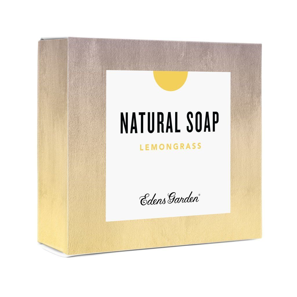 Edens Garden Lemongrass Natural Aromatherapy Cold Processed Bar Soap (Made With Essential Oils, Vegan, For Face & Body), 4.4 oz Bar