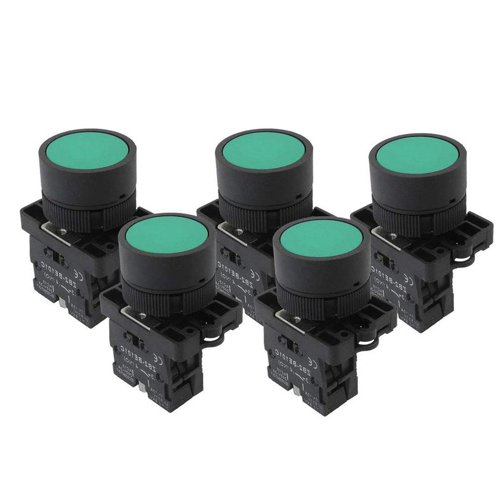 12mm Waterproof Push Button Switch 1NO Momentary ON OFF Emergency Stop 5-Colors