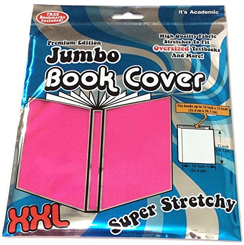 It's Academic Premium Edition Super Stretch Book Cover: Pink - Fits 10