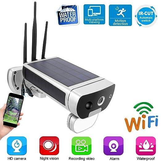 Cámara de Seguridad de Energía Solar, IP66 Impermeable 1080P HD ...