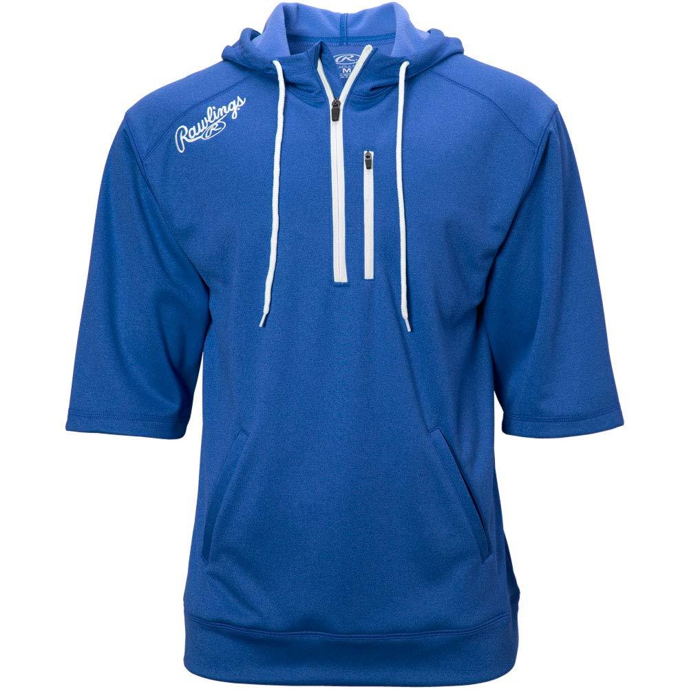 RAWLINGS Men's Short Sleeve Hoodie, Royal Blue, 3X-Large by RAWLINGS