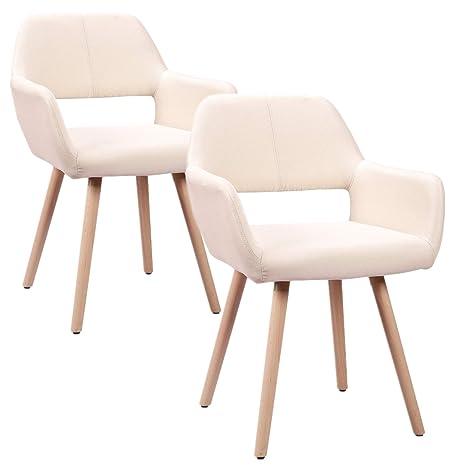 HENGMEI Set di 2 sedie, sedie scandinavi, Sedia per sala d\' attesa ...