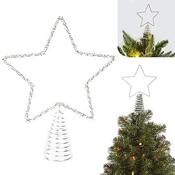 Stella Di Natale Con Perline.Puntale Per Albero Di Natale A Forma Di Stella Con Perline Colore