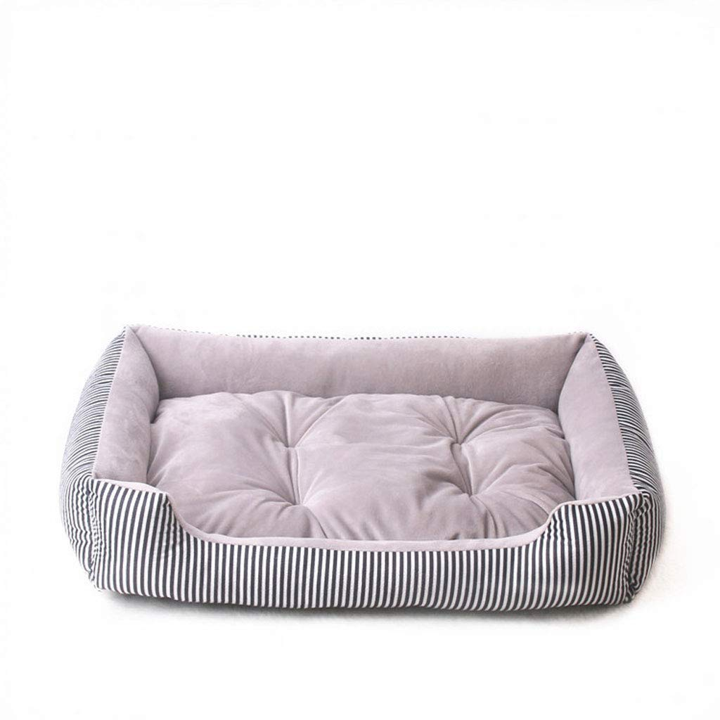 A 50cm A 50cm LJM- Orthopedic Dog Bed Memory Foam Pet Bed with Removable Washable Cover and Squeaker Toy As Gift (color   A, Size   50cm)
