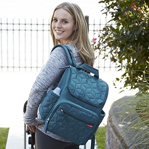 Skip Hop Forma Travel Carry All Diaper Backpack with Insulated Bag, One Size, Peacock