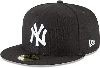 New Era New York Yankees Basic 59fifty Gorra Ajustable Color Negro Y Blanco Clothing
