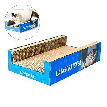 Globalqi - Rascador Corrugado para Gatos (6 Caras), diseño Creativo de cartón para Proteger Muebles y Gatos: Amazon.es: Productos para mascotas