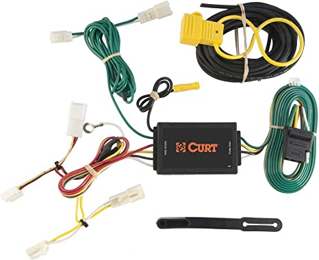 CURT 56106 Vehicle-Side Custom 4-Pin Trailer Wiring Harness for Select on trailer plugs, trailer brakes, trailer generator, trailer fuses, trailer hitch harness, trailer mounting brackets,
