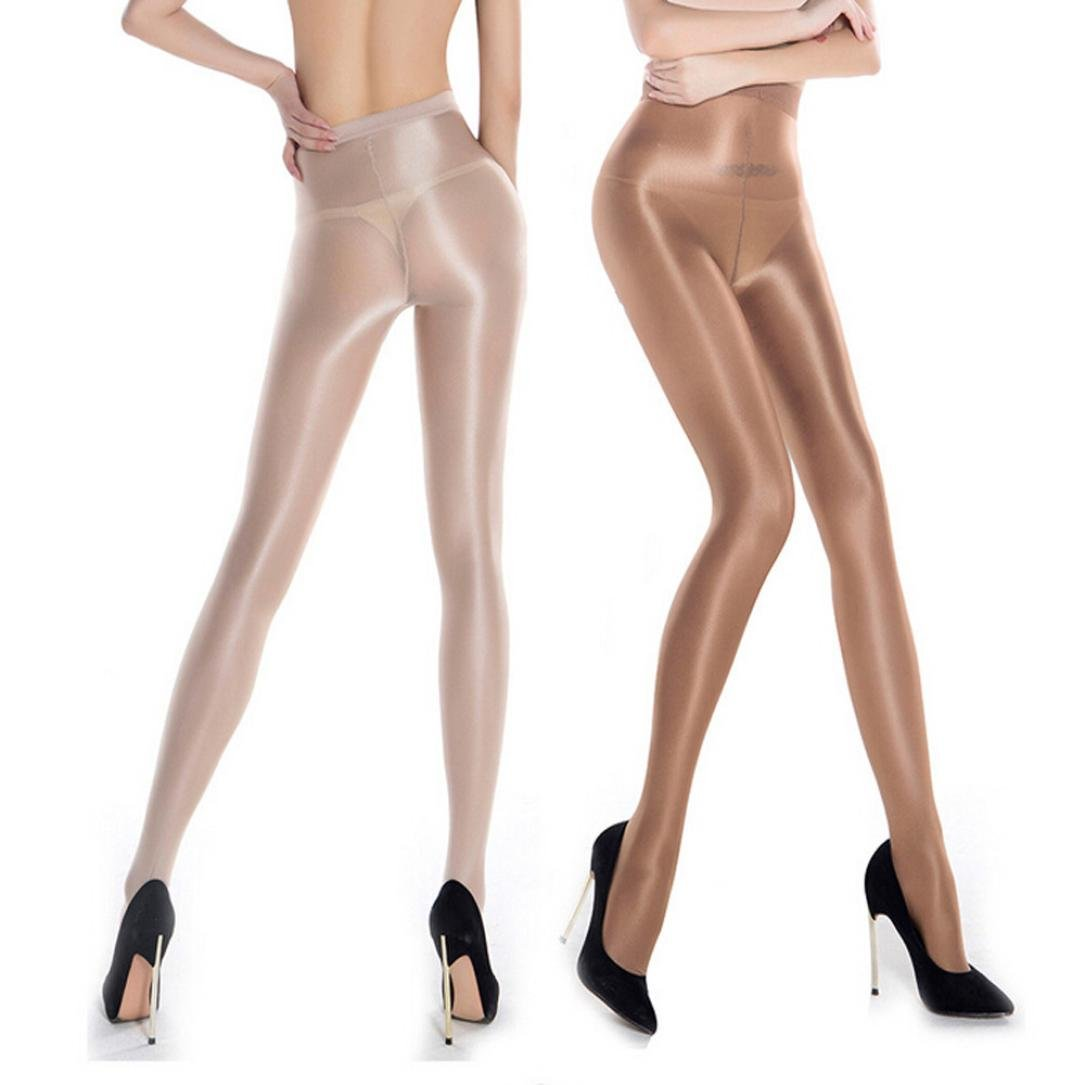 9a3f5d20c85 Amazon.com  Wintialy Women Pantyhose Non Snag Tights Control Top Sheer for  Business Suit Run Resistant Silk Reflection (Black)  Clothing