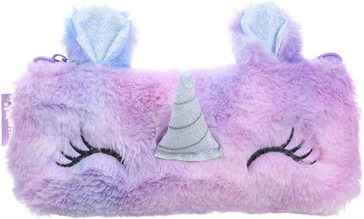 TaiyuanCathy - Estuche de peluche para estudiantes con diseño de unicornio Polipropileno.: Amazon.es: Hogar
