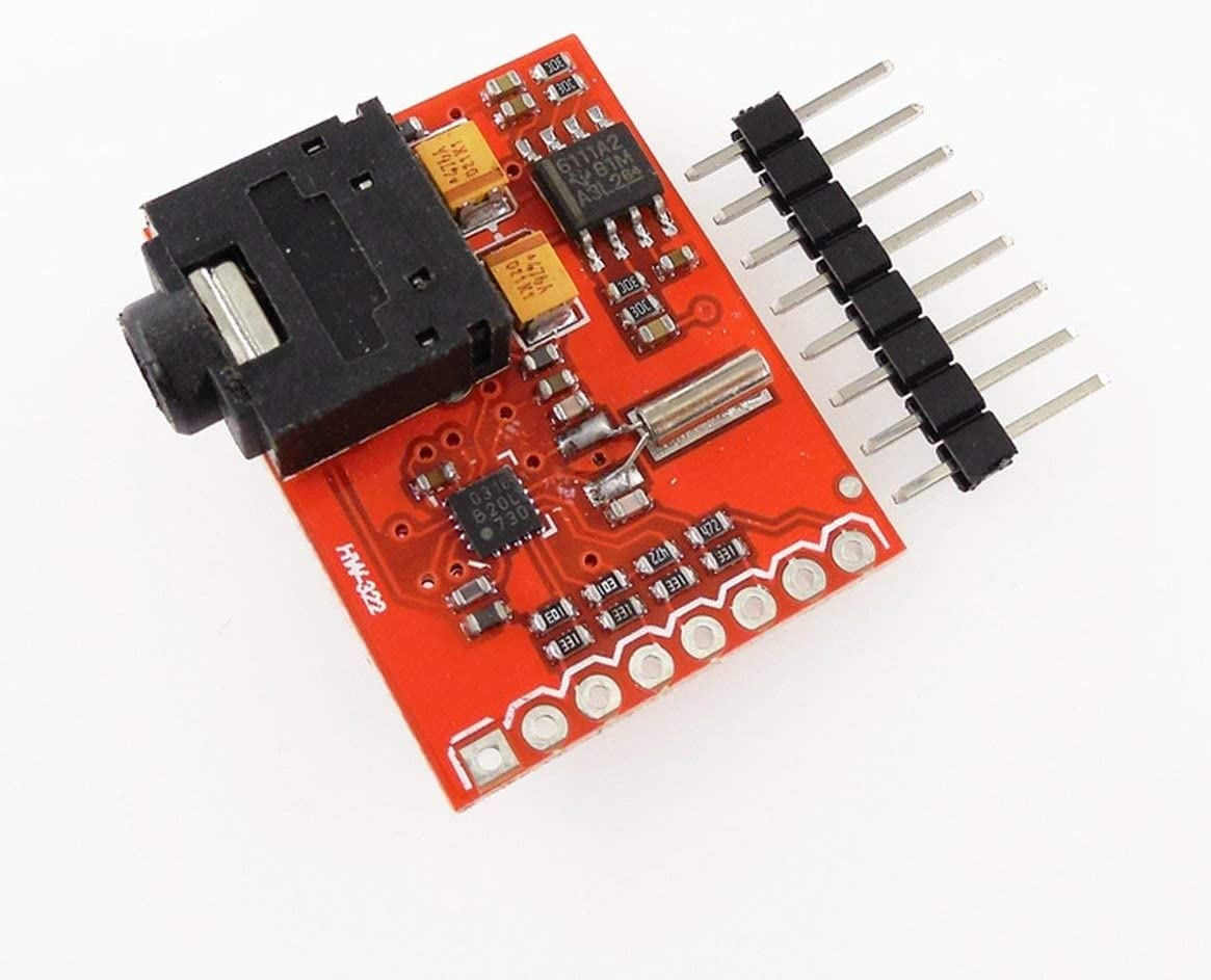 Sunnyflowk HW-322 Si4703 Placa de evaluaci/ón del sintonizador de FM Placa de sintonizador de Radio port/átil Instrumentos el/éctricos port/átiles Rojo