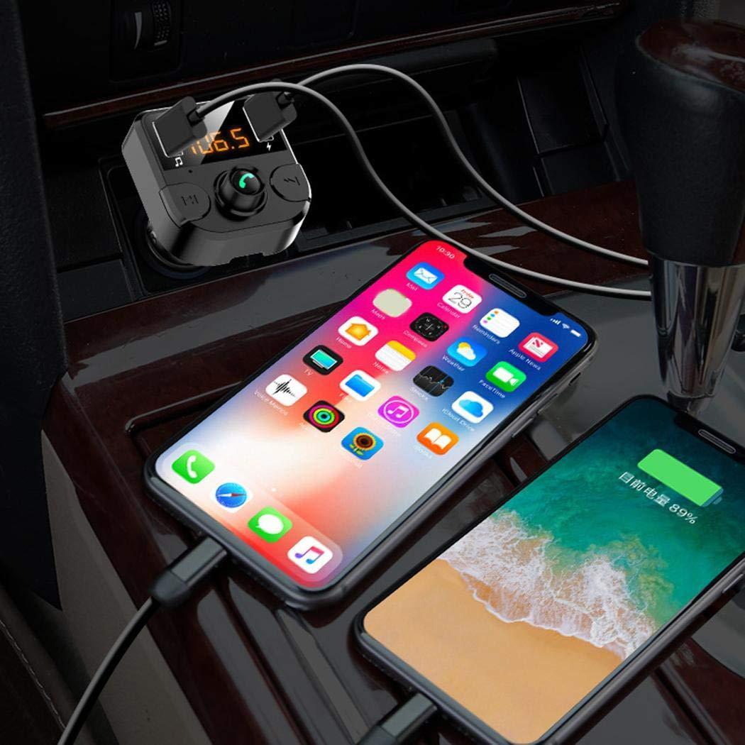 vobome Trasmettitore FM per Lettore MP3 Vivavoce per Caricabatterie USB per Auto 3.1A Senza Fili Bluetooth Custodie con Batteria Integrata
