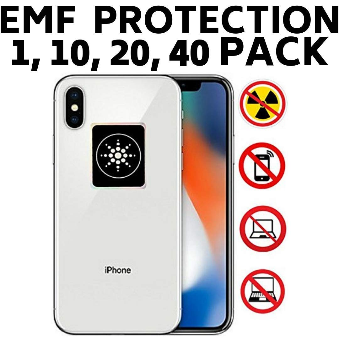 Radiation Protection for CELLPHONES/Laptop - Anti EMF/EMR Radiation Sticker - Radiation Shield Blocker - Remove Electronic Technologies Radiation - 20 Pack Bundle Deal!