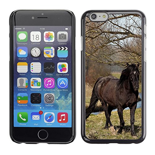 Premio Sottile Slim Cassa Custodia Case Cover Shell // V00002981 cheval noir // Apple iPhone 6 6S 6G 4.7""