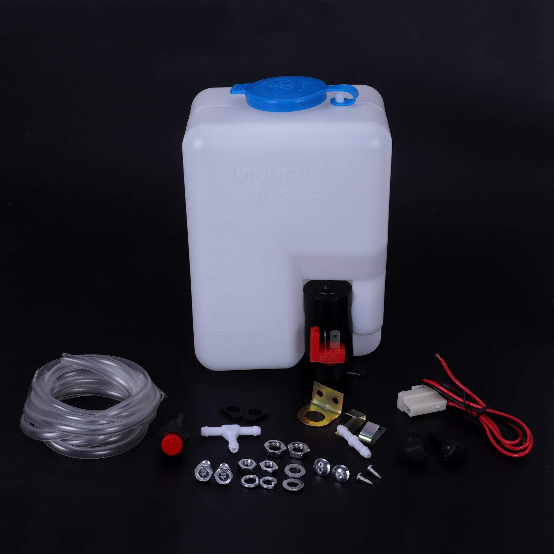 WOVELOT Universal Kit de Botella de Lavadora de Parabrisas 12V Kit de Beetle Cl/ásico Coches