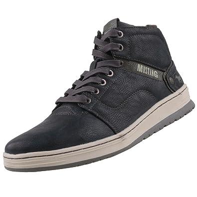 Mustang Herren High Top Sneaker gefüttert Blau  Amazon.de  Schuhe ... 398b1f6e2a