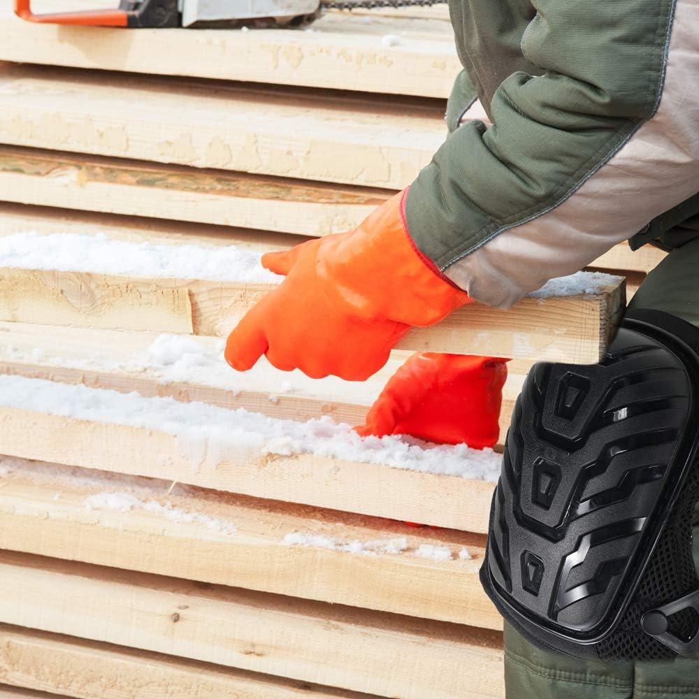 Rodilleras trabajo para jardin Carpinter/ía deportiva,rodillera Engrosado GEL El/ástico de goma Acolchado Deportes Equipo de protecci/ón