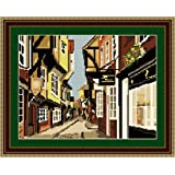 Brigantia Needlework The Shambles Tapestry Picture Kit in Tent Stitch