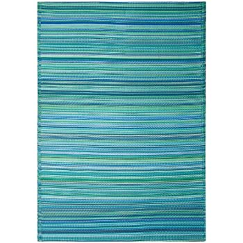 Amazon.com: Fab Habitat Cancun Indoor/Outdoor Rug, Turquoise & Moss ...