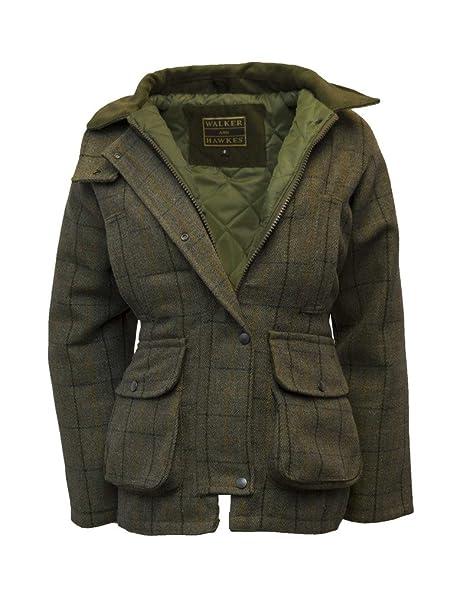 de566a969bca6 Walker & Hawkes - Ladies Derby Tweed Shooting Country Jacket - Navy Tweed -  8