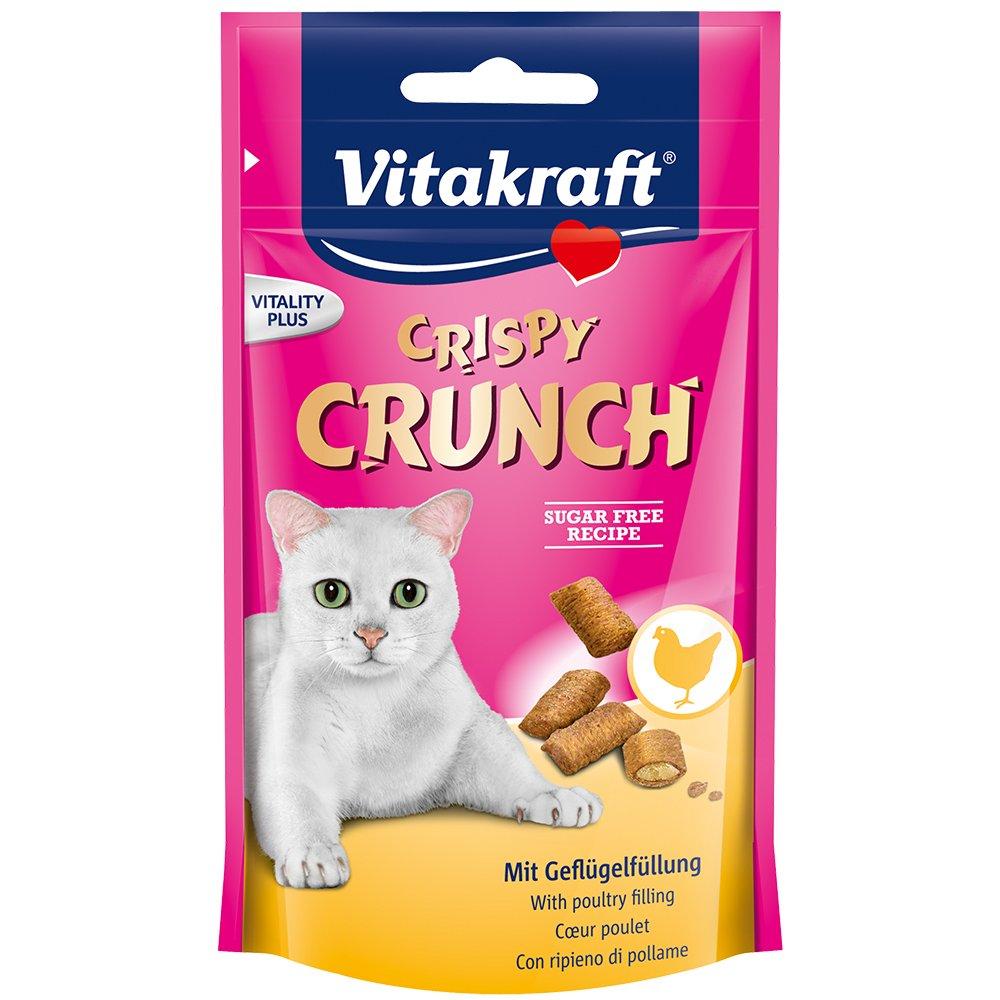 Vitakraft Crispy Crunch Cœur Poulet Friandise pour Chat 60 g 28814