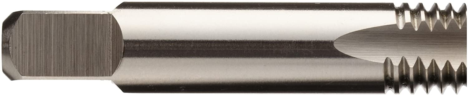 Relieved Style Bright Union Butterfield 1785M High-Speed Steel Spiral Point Tap Finish Uncoated Round Shank with Square End M8-1.25 Thread Size Plug Chamfer
