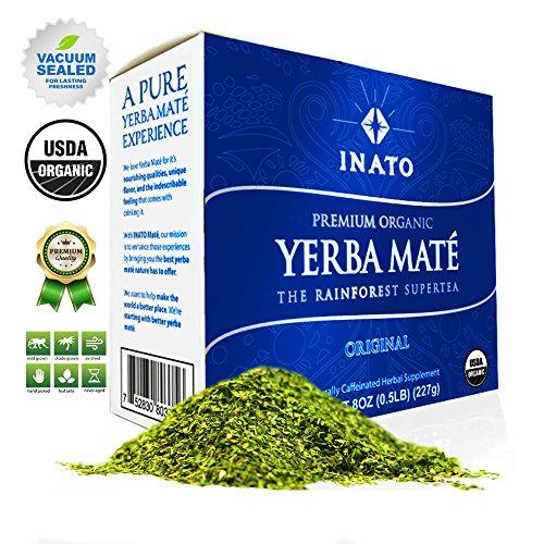 PREMIUM Organic Yerba Mate | Loose Leaf | Rainforest Grown | South American Traditional Green Tea Drink | Air Dried | Clean Energy Boost (Green, 15 (Ultra Diet Mate Tea)