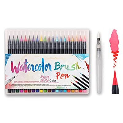 Coloriage Adulte Feutre.Feutre Aquarelle Pack De 20 Couleurs 1 Aqua Brush Watercolor
