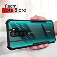 mobistyle Shockproof Slim Clear Shell 360 Degree Protection Back Cover Case for Redmi Note 8 Pro (Black)