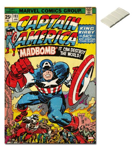 Bundle - 2 Items - Marvel Comics Captain America Cover Poste