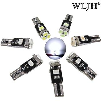 WLJH T5 Bombillas automotrices 74 17 73 2721 5-3020SMD Bombillo de luz LED de