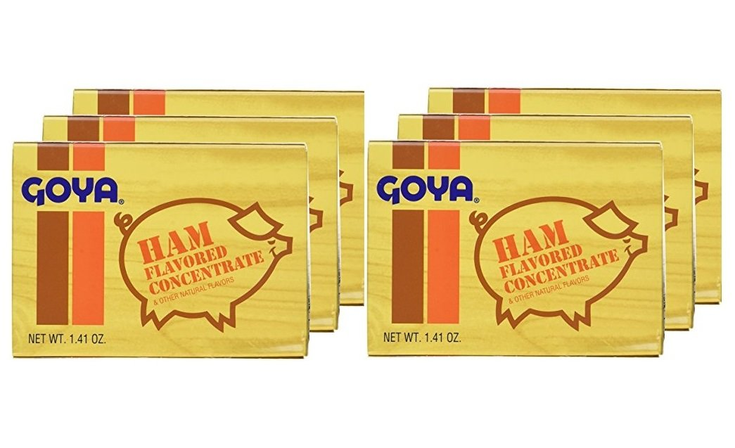 Goya Ham Flavored Concentrated Seasoning 1.41oz | Sabor a Jamon (Pack of 06)