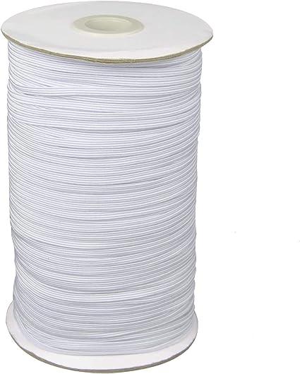 Art DIY Crafts 1//4 Inch Width 100 Yards Length Elastic Bands for Sewing Braided Elastic Cord Black Heavy Stretch High Elasticity Knit