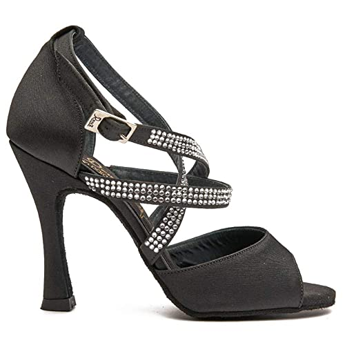 De Salsa Diamond Latino Baile Mujer Reina Zapatos Black Manuel VpjLqzGSUM