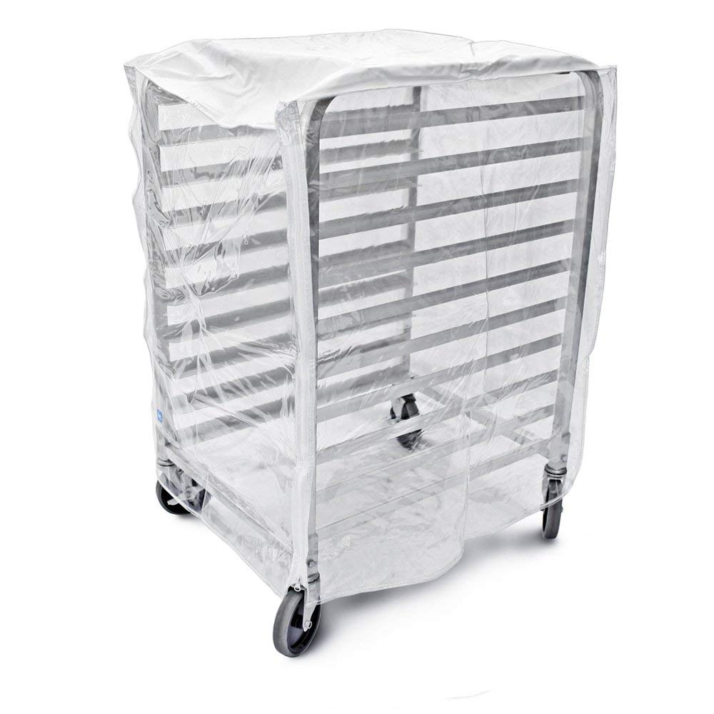 Bags & Covers, Bakery Pan Rack Cover, Heavy Duty Plastic, 3 Zippers, 24'' W x 28'' L x 63'', Made in USA (28''x 23''x33'') by Bags and Covers