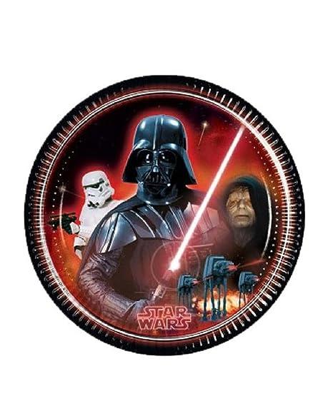 Platos Papel 23 cm Darth Vader, cumpleaños Star Wars * 08784 ...