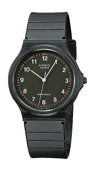 6163452b4af8 Casio Reloj Analogico para Hombre de Cuarzo con Correa en Resina MQ-24-1BLLGF   Amazon.es  Relojes