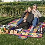 SONGMICS Picnic Blanket Waterproof Beach Camping Outdoor Blanket Mat 77