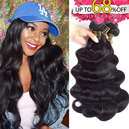 QTHAIR 10A Brazilian Virgin Hair Body Wave 3 Bundles 16