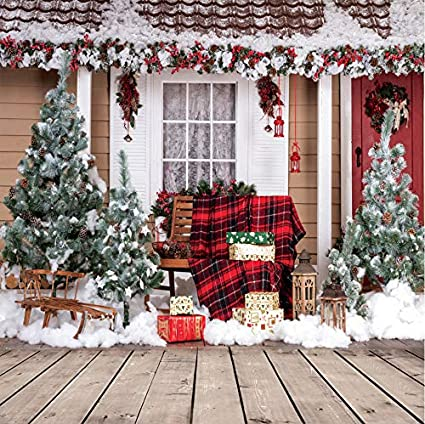 AIIKES 5x7FT Christmas Backdrop Pillow Curtain Carpet Gifts Baby Birthday Photography Backgrounds Customized Xmas Stars Photo Backdrops for Holiday Family Party Decoration Photo Studio Props 11-685