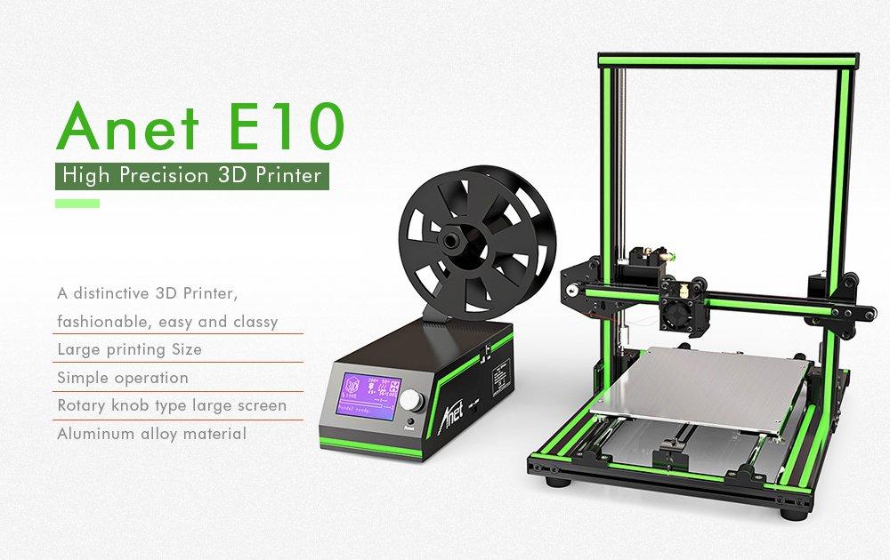 Anet E10 Marco de Aluminio Multi-idioma de la Impresora 3D ...