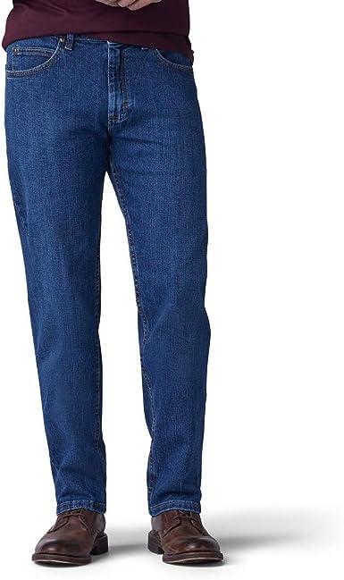 SK-1 Apparel Pantalones vaqueros de corte ancho de pierna ancha para hombre
